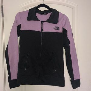 The North Face purple and grey zip up